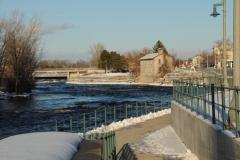 Belleville Stone Building Winter #2801