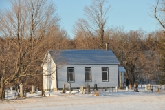 Black River Chapel Closeup Winter #2948