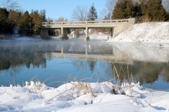 Sandbanks Bridge Cold Winter #3330