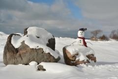 Snowman Pt Petre Rocks #3493