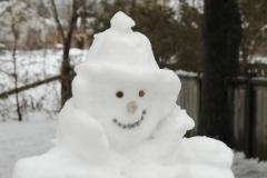Snowman Sherlock Closeup #3492