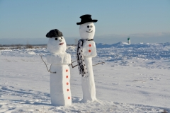 Snowmen Couple Wellington #3513