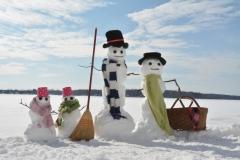 Snowmen Twins Basket #3506