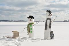 Snowmen Waupoos Sled #3495