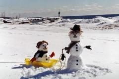 Snowmen Wellington Beach #604